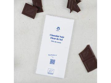 TABLETTE CHOCOLAT NOIR FLEUR DE SEL 100G
